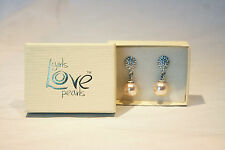 Wedding Bridal Drop Earrings, Pearl & Diamante, GIRLS LOVE PEARLS