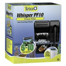 Whisper Power Filter 10 Gallons, Quiet 3-Stage aquarium Filtration (26316)