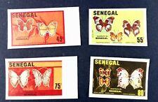 Timbres Papillons Sénégal 566/569 NEUF ** MNH non dentelé imperforated y388