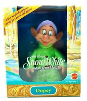 """Snow White and The Seven Dwarfs 6"""" DOPEY Figure #10225 by Mattel (1992) NEW!"""