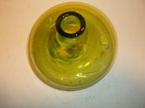 SMALL GREEN HANDBLOWN GLASS VASE- LOVELY PIECE.
