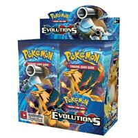 324 Cards Pokemon TCG: XY Evolutions 5 Bags Sealed Booster Box Trading Game Toys