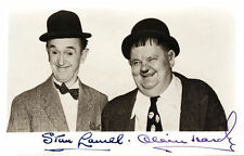 Laurel and Hardy 2 x Autograph Hand Signed 10x8 Photos Preprints Comedy Greats