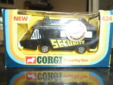 RARE VINTAGE CORGI No 424,SECURITYVAN,FUTURISTIC EDITION, MINT BOXED