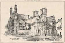 Church of St Martin. [Larm?]. From the south west. England 1876 old print