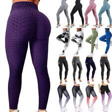 Women Butt Lift Yoga Pants High Waist Leggings Ruched Workout Booty Trousers US
