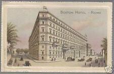 ROMA_HOTEL BOSTON_BELLISSIMO CARTONCINO PUBBLICITARIO_DA COLLEZIONE_D'EPOCA