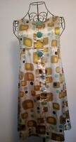 "Stunning 60's Vintage Pinafore Dress. Size 32"" chest. Groovy, geometric print."