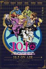 H037 JoJo's Bizarre Adventure Golden Wind Japan Anime Poster Art Wall Decor