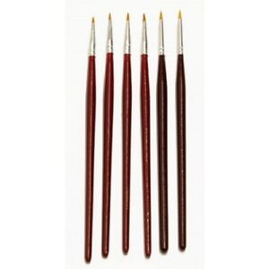 Major Brushes Fine Detail Paint Brush Set of 6, for Art, Model Making, Hobby