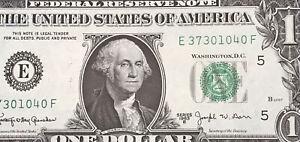 1963 B $1 DOLLAR BILL ( RICHMOND E ) UNCIRCULATED