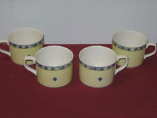 "ROYAL DOULTON  ""CARMINA""  FLAT CUPS (No Saucers)  --  4"