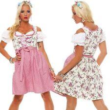Dirndl 3 tlg.Trachtenkleid Kleid Mini Bluse Schürze Trachten Oktoberfest .