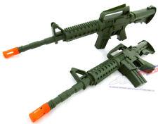2x Toy Machine Guns! Military Soldier Dual Green M-16 Toy Rifles Set