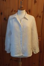 M&S size UK 18 100% pure linen white blouse shirt