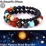 Eight Planets Bead Bracelet Natural Stone Universe Yoga Chakra Solar Bracelet hi