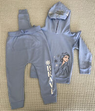 Girls Disney FROZEN II Brave Track/pants/sweat Suit Outfit Hoodie 4T EUC!