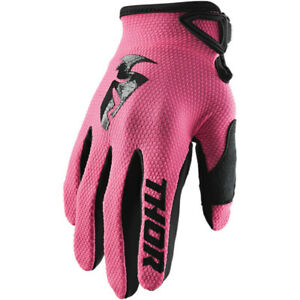 Thor Women's Sector Motocross Offroad Gloves Pink