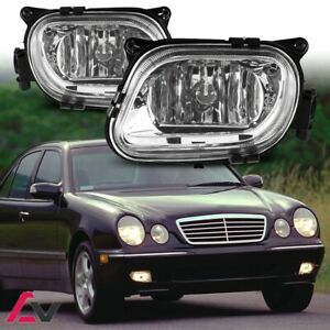 96-99 For Mercedes-Benz W210 Clear Lens Pair Fog Light Lamp OE Replacement DOT