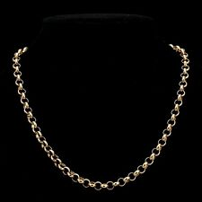 18K Yellow Gold GL Medium Solid Women's Belcher Necklace with Parrot Clasp