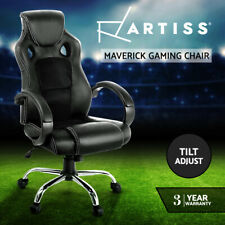 Executive Computer Gaming Recliner Leather Sporty Racing Office Chair - Orange