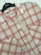 M&s Cream Peach Mix Long Sleeve Oversize Shirt Blouse Top Size 14 Fit 16 ?