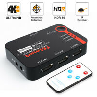 TESmart 3 input 1 output 3 Port HDMI Switcher Support 4K@60hz HDCP 2.2 HDR 10