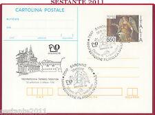 ITALIA MAXIMUM MAXI CARD POSTALE MANIFESTAZIONE FILATELICA NA. 1988 SARONNO B143