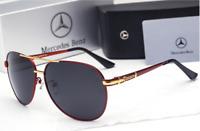 20118 Aviator Polarized Benz Sunglasses Mens Unisex Metal Retro Glasses