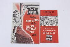 Chicago Railroad Fair1949 Emphemera Rock Island Line & Western Pacific Cable Car