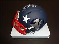 Jamie Collins New England Patriots Autographed hand Signed Mini Helmet JSA