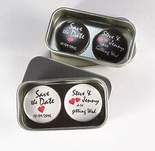Wedding Save The Date Gift Magnets, Complete with Gift Tin, Keepsake, Momento