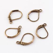 20 Pcs Bronze Tone Plain Leverback Earring Findings (10x16mm) - Earring Clasp