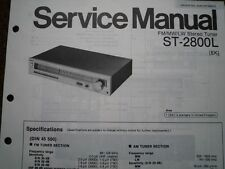 PANASONIC ST-2800L Stereo Tuner Receiver Service manual wiring parts diagram