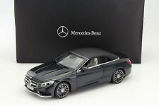 NOREV Mercedes S-Class Convertible (A217) Black 1:18 DEALER EDITION*New!