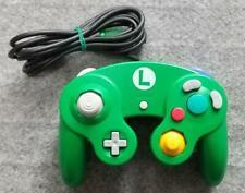 Used Nintendo GameCube Official Controller Emerald  Luigi Green x Navy JAPAN