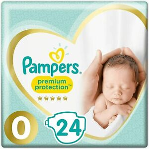 Pampers Premium Protect Micro Size 0 Newborn Nappies 24 Size Pack