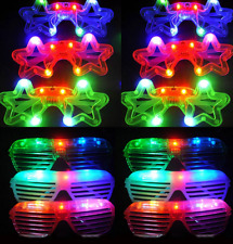 18 PCS Light-Up Star+Shutter Glasses LED Flashing Blinking Shades Raves EDC