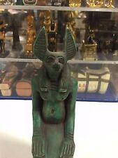 Vintage Egyptian God Anubis  Hand Carved Natural Limestone 1971