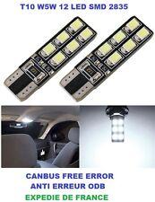 2 VEILLEUSE LED 12 SMD W5W WY5W T10  BMW SERIE 5 E60 2003-2010 NEUF CANBUS