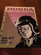 Honda Service Manual NB50 Aero 50 1985 1986 1987