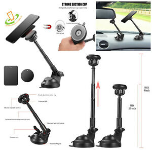 Magnetic Car Dash Mount Dock Window Phone Tablet Holder Long Extension Arm 360°