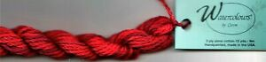 Caron Watercolours Thread #045 Flame Red Needlepoint Canvas Hand-Painted