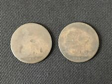 GB 1868 & 1869 One Penny Coins Queen Victoria Free UK P&P