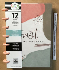 NEW! 2021-2022 me & my BIG Ideas The Happy Planner PEACHY PAINTED MINI Vertical