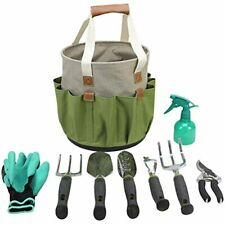 Garden Tools Set Gardening Gifts 9 Piece Digging Claw Gloves Succulent Planting
