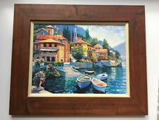 Howard Behrens Bellagio Promenade Coastal City Europe Landscape Canvas 24x32