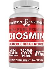 Diosmin 750mg Ultra Pure Vein Health + Blood Circulation + Beautiful Legs