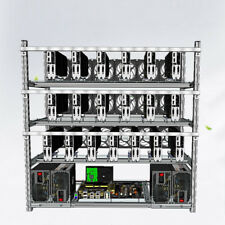 19 GPU Open Air Miner Frame Aluminum Stackable Mining Rig Case ETH BTC Ethereum