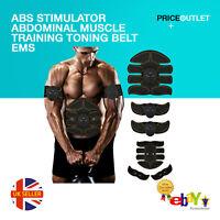 ABS trainer Stimulator Abdominal Muscle Training Toning Belt EMS Fitness Belt UK